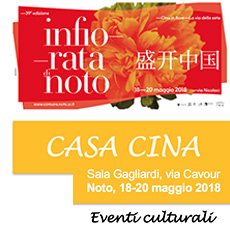 """Infiorata 2018. """"Cina in fiore, la via della Seta"""". Noto, 18-20 maggio 2018."""